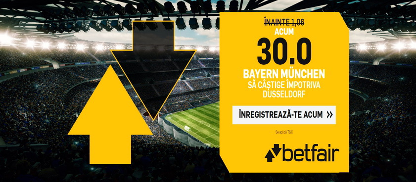 Ai parte de o cota imensa daca mizezi pe victoria lui Bayern Munchen