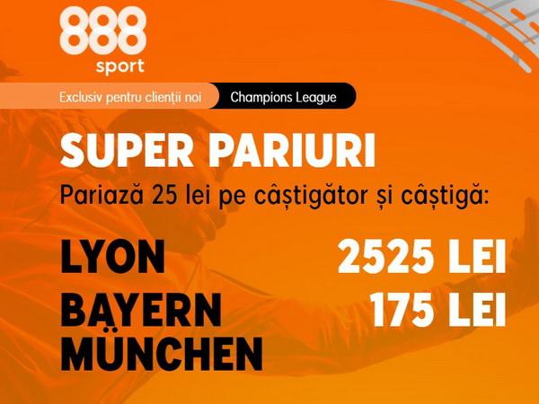 """legalbet.ro: Lyon are o cotă uriaşă pentru a răpune """"monstrul"""" Bayern!."""
