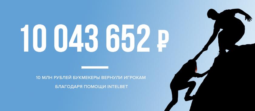 Благодаря помощи Intelbet букмекеры вернули игрокам 10 млн рублей