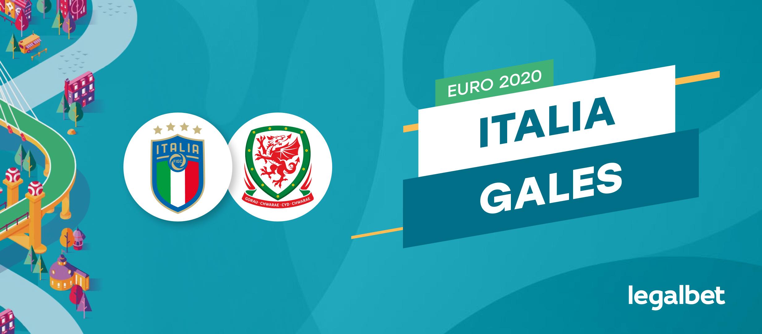 Apuestas y cuotas Italia - Gales, Euro 2020