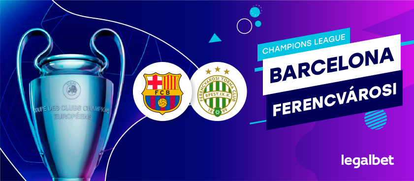Apuestas y cuotas Barcelona - Ferencvarosi, Champions League 2020