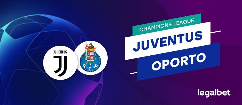 Apuestas y cuotas Juventus - Oporto, Champions League 2020/21