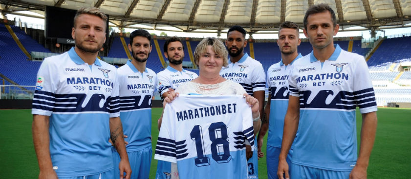 Букмекерская контора «Марафон» стала спонсором клуба «Лацио»