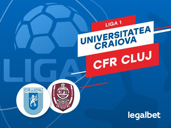 Karbacher: Universitatea Craiova - CFR Cluj: cote la pariuri si statistici.