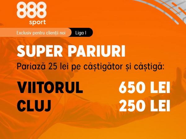 legalbet.ro: Profită acum de cotele grozave de la meciul Viitorul vs CFR.
