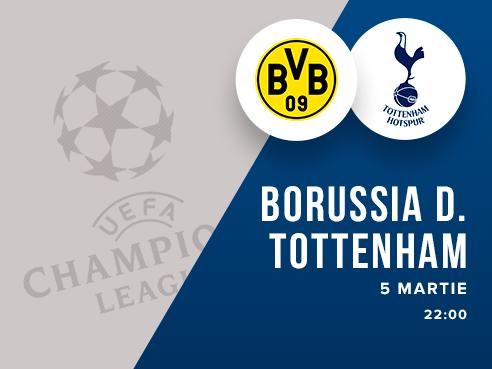 legalbet.ro: Borussia Dortmund - Tottenham Hotspur: prezentare cote la pariuri si statistici.