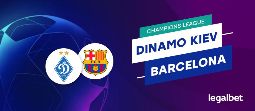 Apuestas y cuotas Dinamo Kiev -Barcelona, Champions League 2020/21