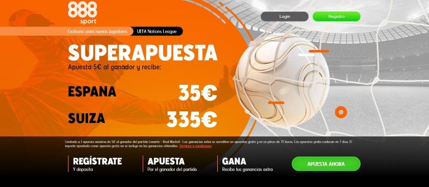 Promoción Supercuota España vs Suiza - Exclusiva 888Sport