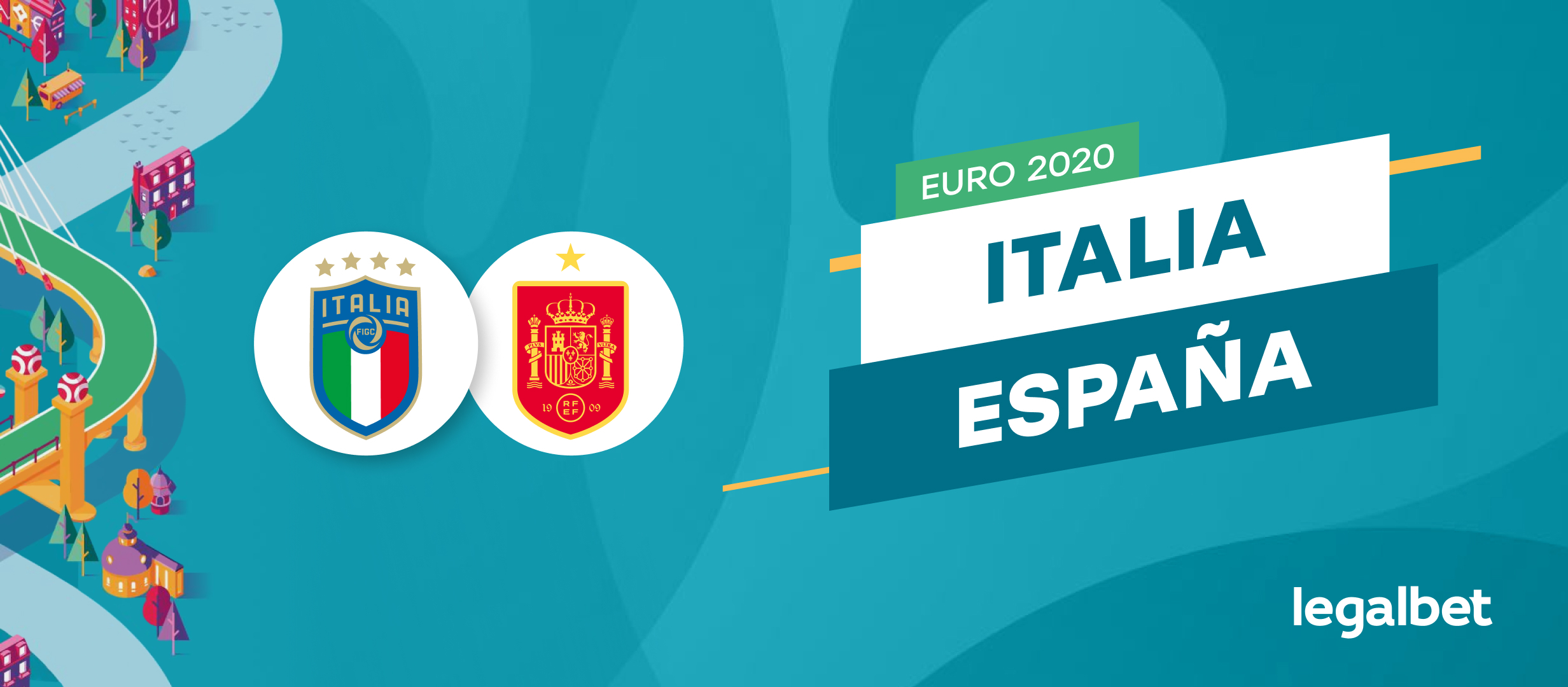 Apuestas y cuotas Italia - España, Euro 2020