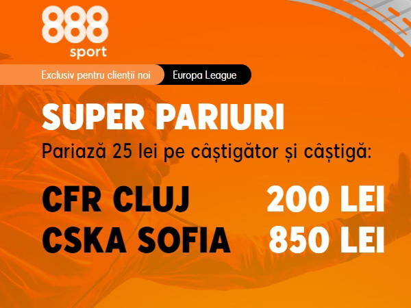 legalbet.ro: Cote foarte atractive pentru meciul CFR Cluj - ŢSKA Sofia!.