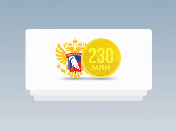 Legalbet.ru: ФХР получила более 230 миллионов рублей ЦО в 2020 году.