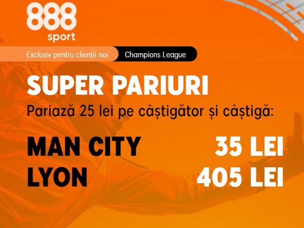 """legalbet.ro: Va reuşi Lyon să mai elimine un """"căpcăun"""" în Liga Campionilor?."""