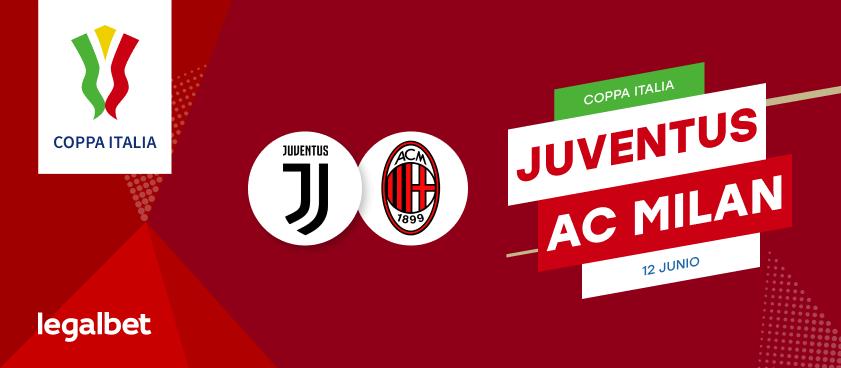 Previa, análisis y apuestas Juventus - Milan, Copa Italia 2020