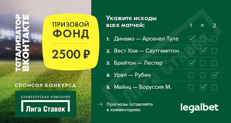 Бесплатный тотализатор во ВКонтакте: разыгрываем 2500 рублей!