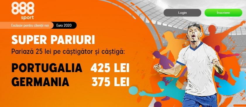"""Pe cine pariezi, pe Cristiano Ronaldo sau """"Nationalmannschaft""""? Acum e momentul să prinzi promoţiile 888 Sport!"""