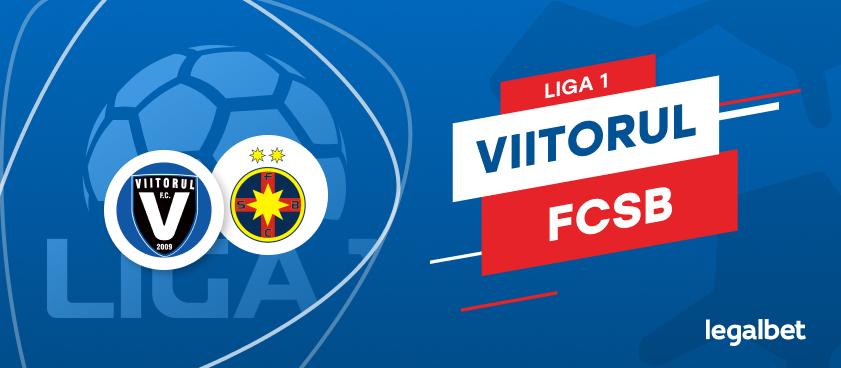 FC Viitorul - FCSB: cote la pariuri şi statistici