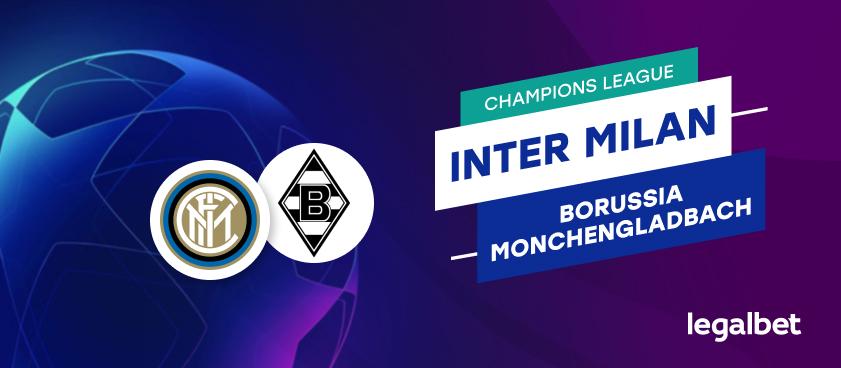 Apuestas y cuotas Inter de Milán - Borussia Monchengladbach, Champions League 2020
