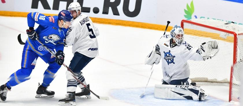 Прогноз на «Адмирал» - «Барыс» в КХЛ: много шайб не ждем