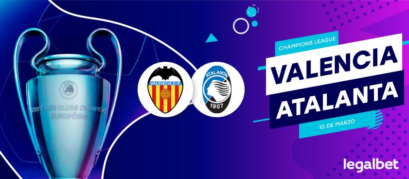 Previa, análisis y apuestas Valencia - Atalanta, Champions League 2020