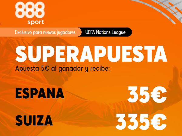 Legalbet.es: Promoción Supercuota España vs Suiza - Exclusiva 888Sport.