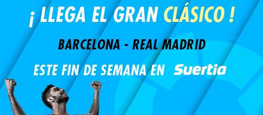 ¡El partido más esperado llega a Suertia.es: Barcelona vs Real Madrid!