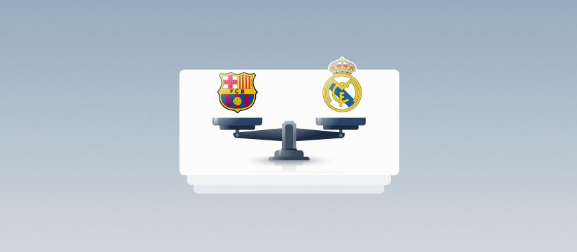 Букмекеры уравняли шансы «Реала» и «Барсы» на чемпионство в Ла Лиге