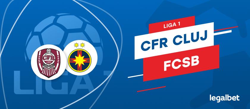 CFR Cluj - FCSB: cote la pariuri şi statistici