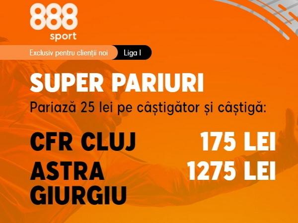 legalbet.ro: 888 Sport are o nouă promoţie de neratat pentru un meci din Liga 1.