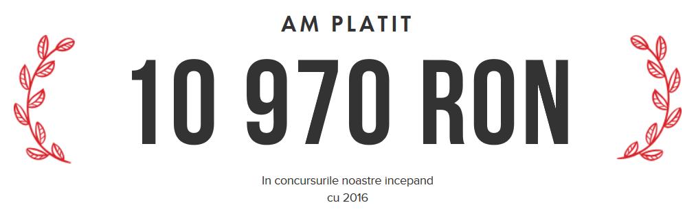 O noua borna: Intelbet a platit peste 10 000 RON in concursurile organizate pe site!
