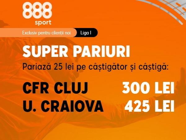 legalbet.ro: Liga 1: CFR Cluj şi U Craiova se duelează pe cote nemaipomenite!.