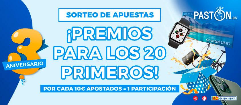 Promociones Pastón tercer aniversario: 6.000€ en premios, nuevo bono por depósitos...