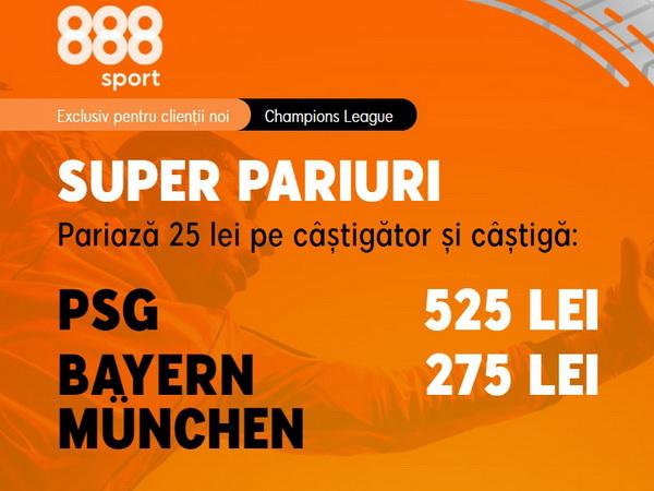 legalbet.ro: Ai cote barosane la 888 Sport, pe măsura unor finale de cupe europene.