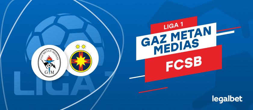 Gaz Metan Mediaş - FCSB: cote la pariuri şi statistici
