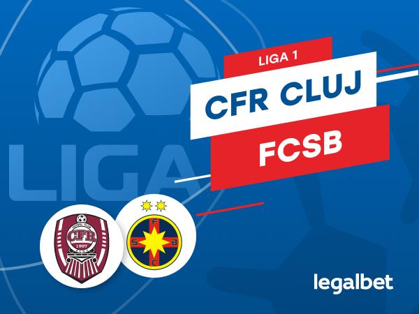 Karbacher: CFR Cluj - FCSB: cote la pariuri şi statistici.