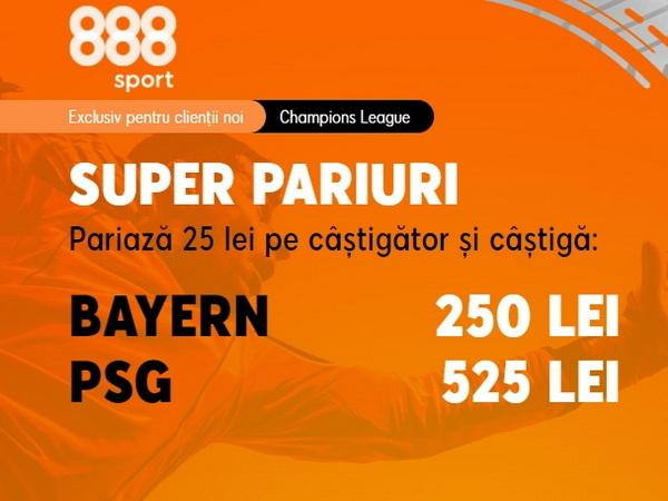 """legalbet.ro: PSG are o cotă uriaşă pentru a răpune """"monstrul"""" Bayern în sferturile Champions League!."""