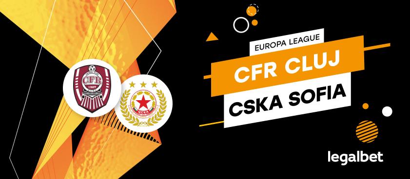 CFR Cluj - ŢSKA Sofia: cote la pariuri şi statistici