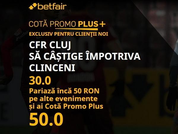 legalbet.ro: Cotă BOMBĂ la pariuri pentru victoria lui CFR Cluj în meciul cu Academica Clinceni!.