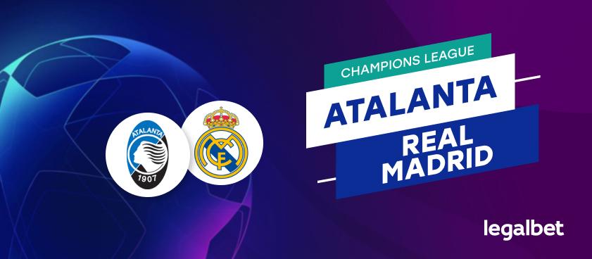 Apuestas y cuotas Atalanta - Real Madrid, Champions League 2020/21