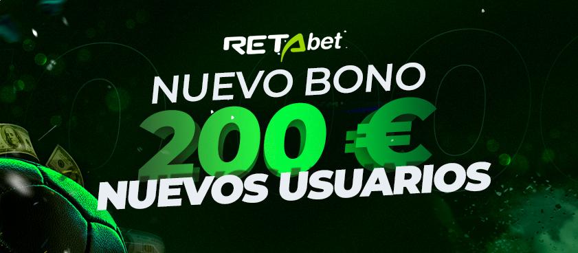 RETAbet lanza un nuevo bono de bienvenida de hasta 200€