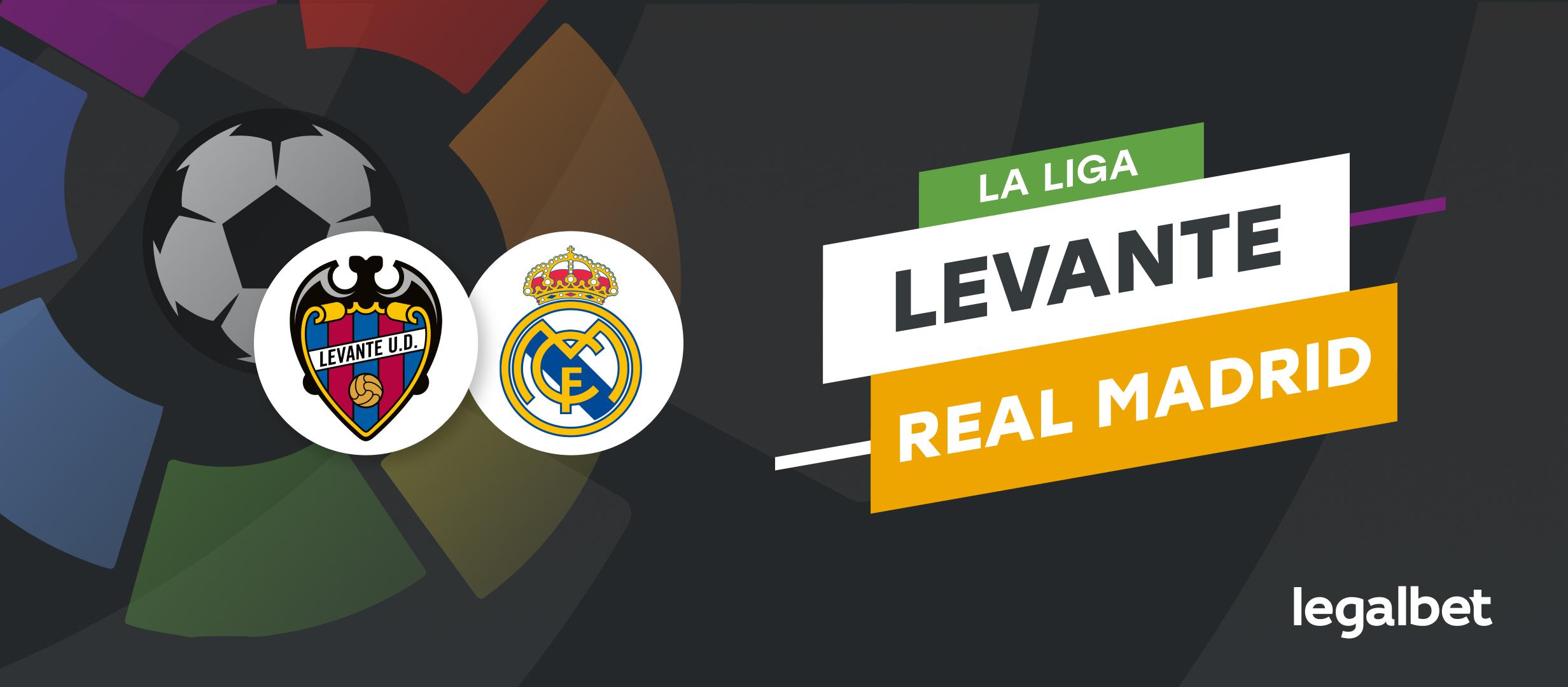 Apuestas y cuotas Levante - Real Madrid, La Liga 2021/22