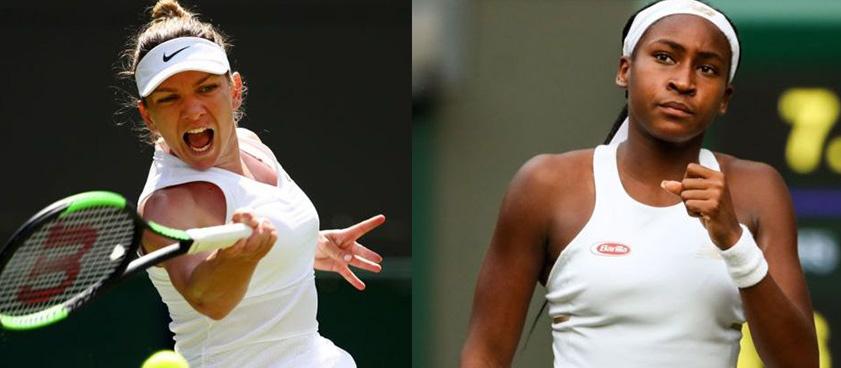 Pontul zilei din tenis 08.07.2019 Simona Halep vs Cori Gauff