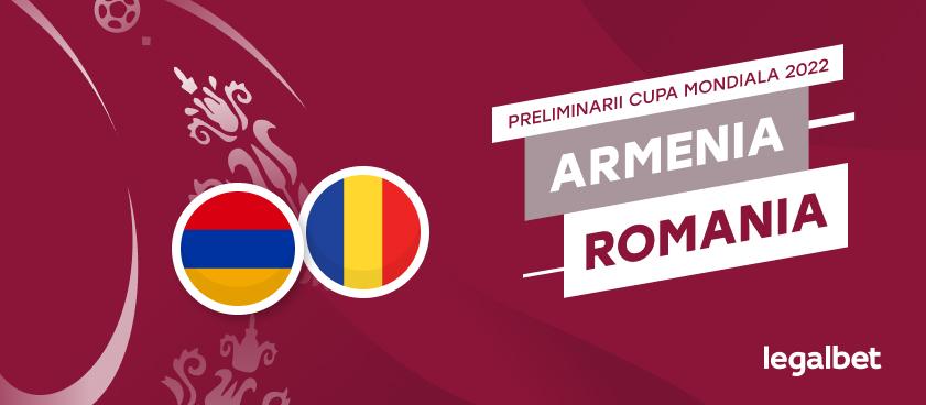 Armenia - România: cote la pariuri şi statistici