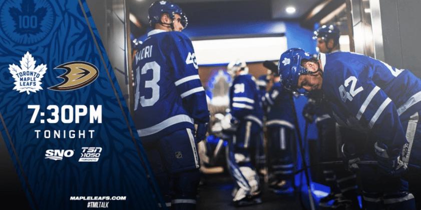 20 декабря. НХЛ. Торонто - Анахайм