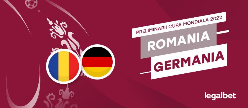 România - Germania: cote la pariuri şi statistici
