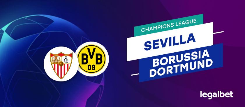 Apuestas y cuotas Sevilla - Borussia Dortmund, Champions League 2020/21