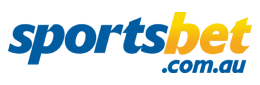 The logo of the bookmaker SportsBet - legalbet.com.au