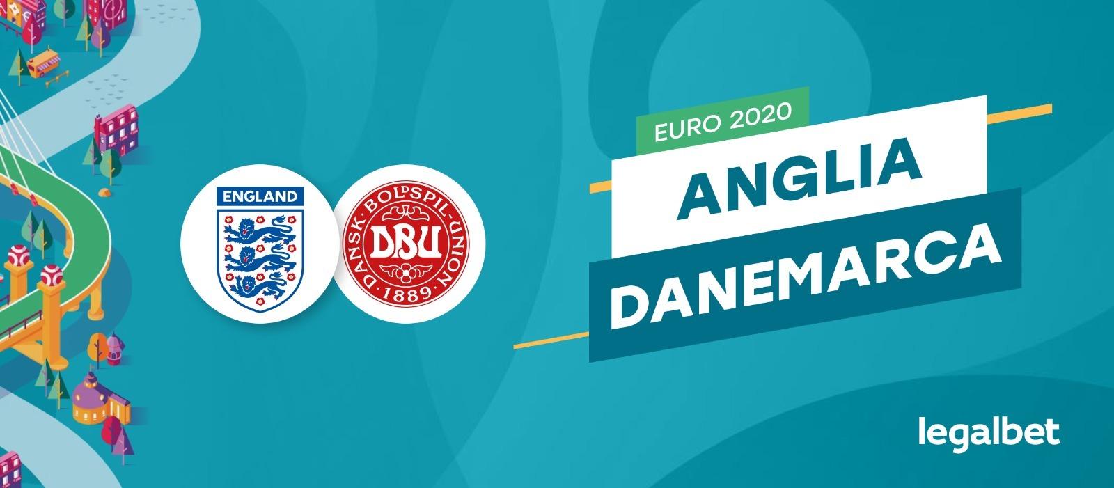 Danemarca - Anglia, în semifinalele EURO 2020: ponturi pariuri