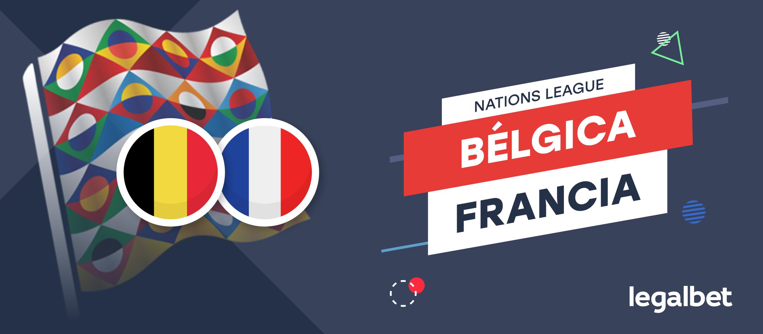 Apuestas y cuotas Bélgica - Francia, Nations League 2021/22