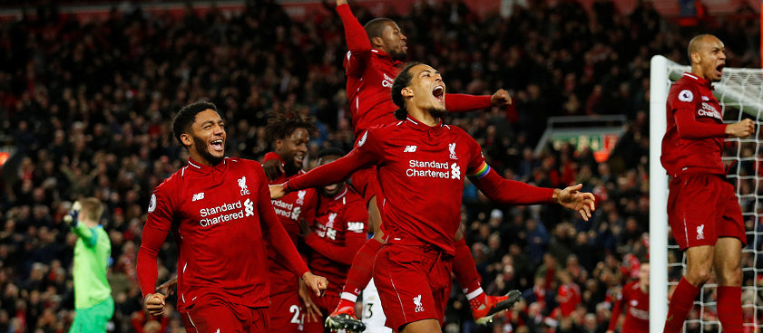 Pronóstico Liverpool - Huddersfield, Premier League 2019