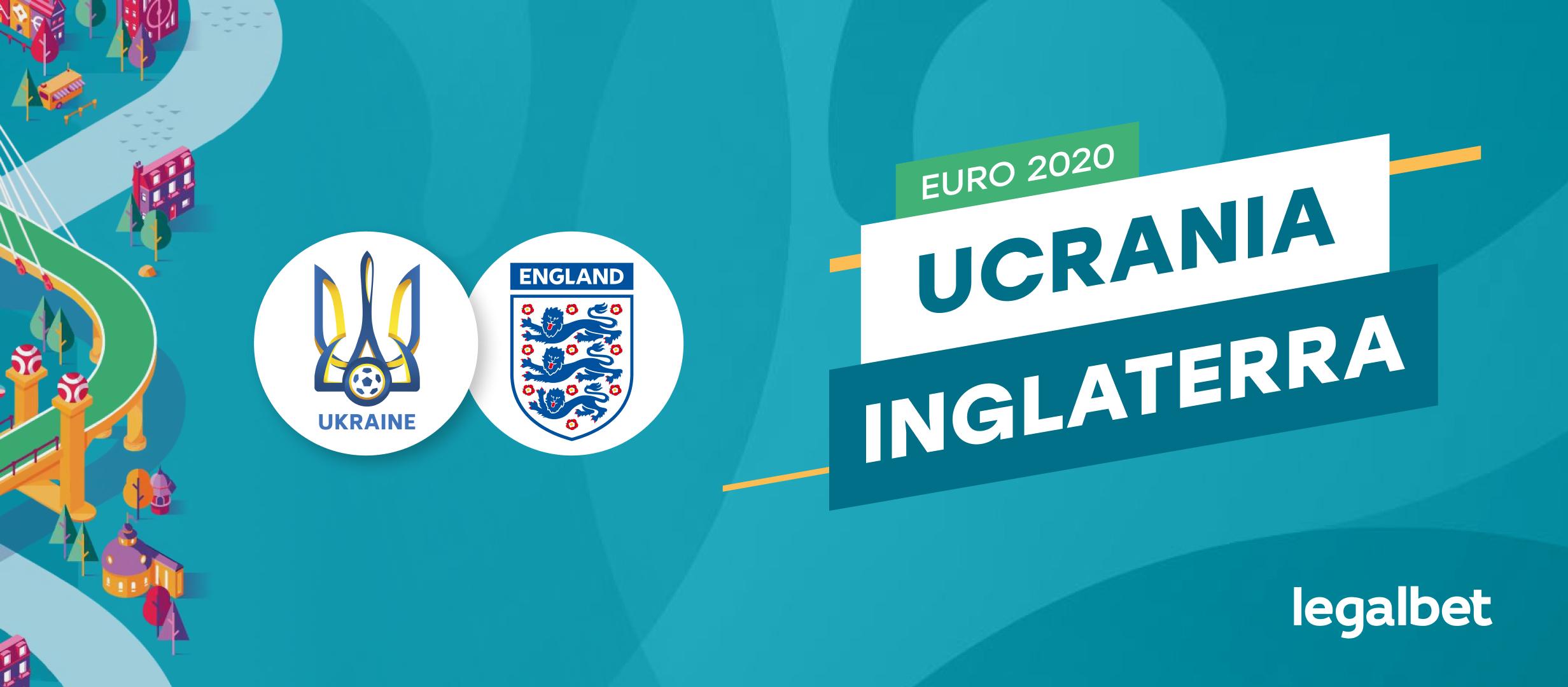 Apuestas y cuotas Ucrania - Inglaterra, EURO 2020